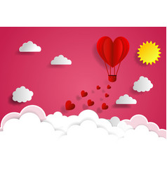 love for valentine s day and young joyful couple vector image