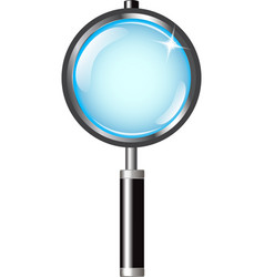 magnifier with handle vector image
