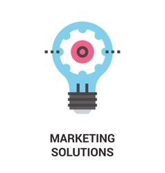 marketing solutions icon concept vector image