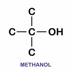Methanol molecule vector