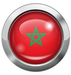 Morocco flag metal button vector