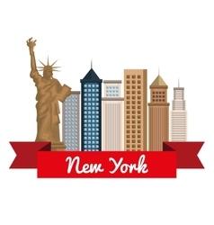 New york city cityscape vector
