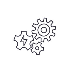 power supply line icon concept power supply vector image