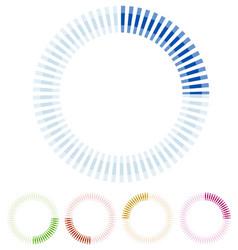 preloader circular shape segmented circle vector image