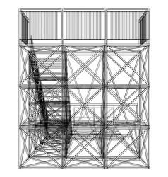 Ramp concept outline vector