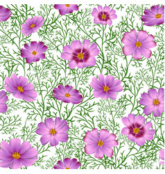 Seamless floral background with beautiful pink vector