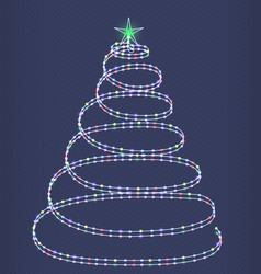 shimmering christmas tree vector image