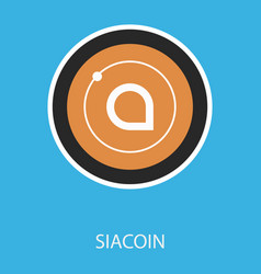 Siacoin blockchain cryptocurrency connected vector