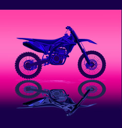 sport motorcycle motocross technical drawing vector image