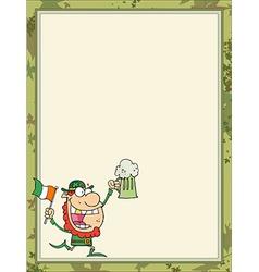 St Patricks day cartoon border vector