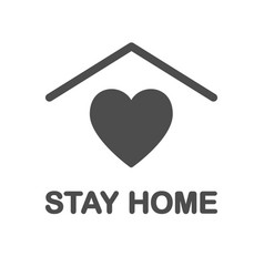 Stay home icon staying at home during a pandemic vector