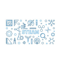 Steam creative outline or vector