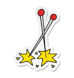 Sticker of a cartoon pins vector