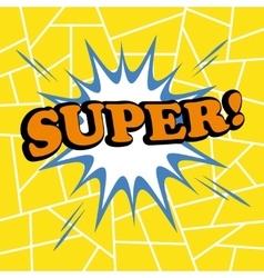Super comic cartoon vector