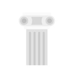 Temple pillar icon flat style vector