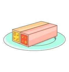 Turkish sweets icon cartoon style vector