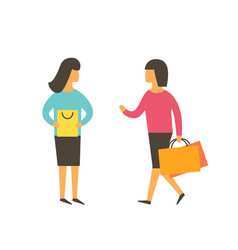 women making shopping together friend people vector image