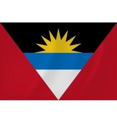 Antigua and Barbuda waving flag vector image