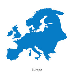 detailed map of europe region vector image