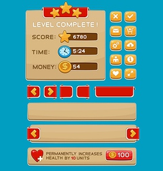 Interface buttons set for games or apps3 vector image vector image