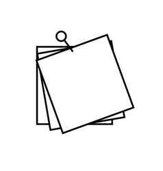 sticky notes icon vector image