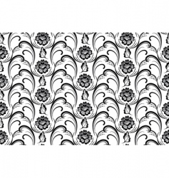vector seamless floral pattern vector image