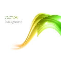 wave neon light white curve green vector image vector image
