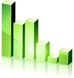 3d green diagram vector image vector image