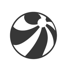 cartoon ball play beach funny vector image