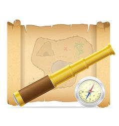 pirate treasure map 02 vector image vector image
