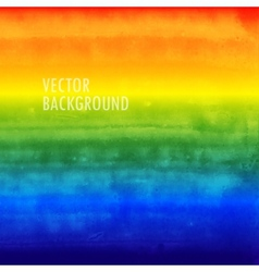 rainbow watercolor background brushed ink texture vector image vector image