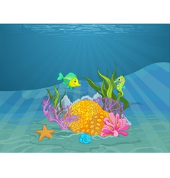 Seabed vector image