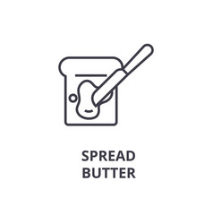 spread butter line icon outline sign linear vector image
