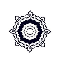 The geometric figure or decorative ornament like vector image