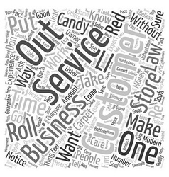 The Unbeatable Laws Of Customer Service text vector image vector image