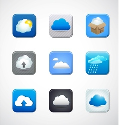 cloud app icons vector image vector image