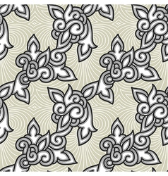 Seamless floral background pattern vector image