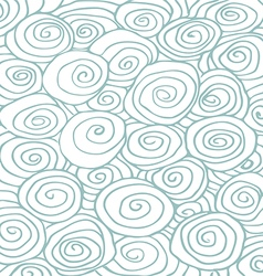 Waves hand drawn pattern background curled vector image vector image