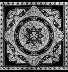37 Abstract floral mosaic tile vintage ornament vector image