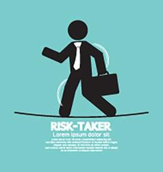 Businessman Walk On A Line Rask-Taker Concept vector image