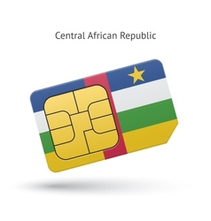 Central African Republic mobile phone sim card vector image
