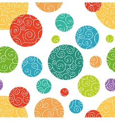 Seamless pattern with colorful doodle circles vector image vector image