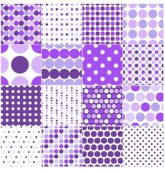seamless retro dot pattern print vector image vector image