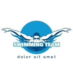 Swimming Team Logo vector image vector image