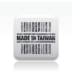 taiwan icon vector image vector image