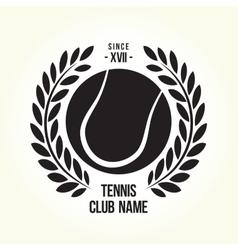 Tennis ball logo vector image vector image