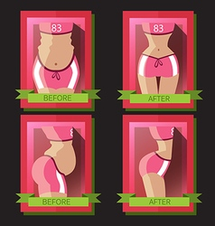 Transformation of a womans body vector image vector image