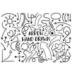 0024 hand drawn arrows vector