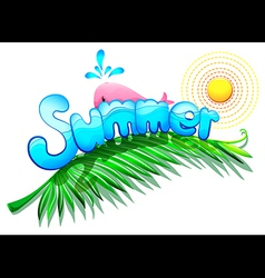 A summer template vector