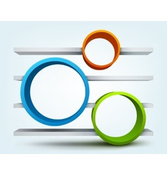 Abstract 3d rings with place for text vector image
